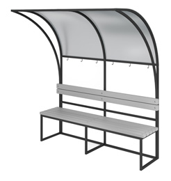 BENCH WITH CANOPY