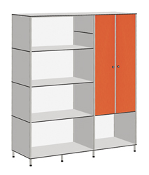 SIDEBOARD WITH INTEGRATED DOUBLE DOOR LOCKER