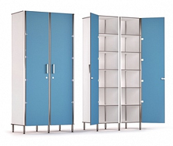 DOUBLE DOOR 12 COMPARTMENT STORAGE CABINET