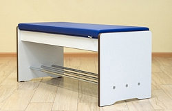 REINFORCED BENCH WITH PADDED SEAT