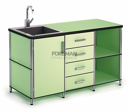CABINET DESK WITH SINK