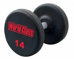 FM/LZUD URETHANE ENCASED FIXED DUMBBELLS (LASER ENGRAVED LOGO)