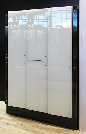 ONE COMPARTMENT LOCKER WITH CONCEALED PROFILE
