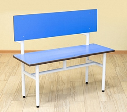 SINGLE SIDED BENCH WITH BACK