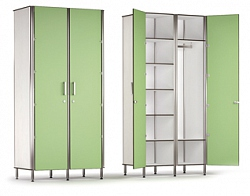 DOUBLE DOOR 9 COMPARTMENT MULTI-SIZE STORAGE CABINET