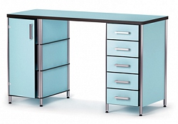 CABINET AND 5-DRAWER WORK DESK